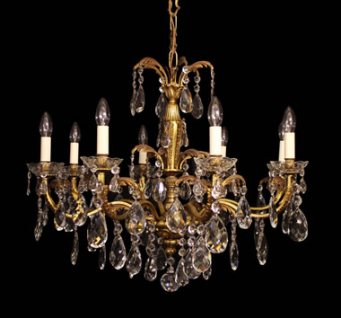 Antique chandeliers gilded antique chandeliers okeeffe antiques medium with glass chandeliers aloadofball Gallery