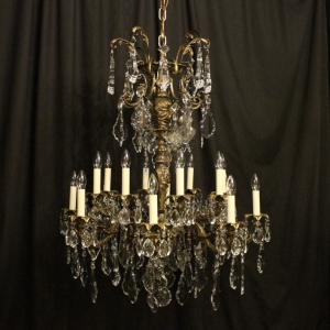 French Gilt Bronze 16 Light Antique Chandelier