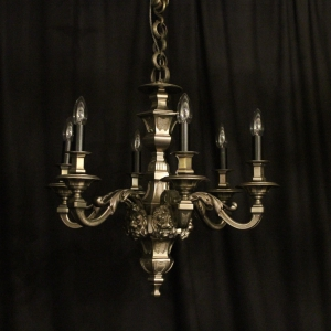 French Silver Bronze 6 Light Antique Chandelier