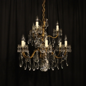 Italian Gilded 9 Light Antique Chandelier