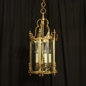 French Silver 6 Light Antique Chandelier