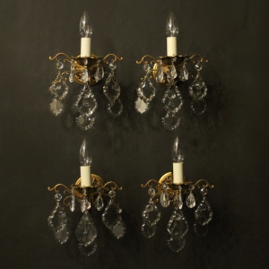 A French Set Of 4 Toleware Wall Lights