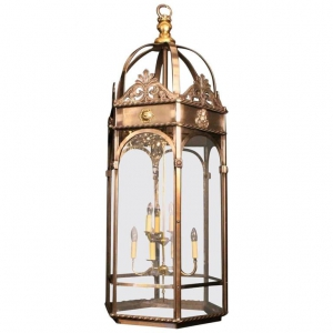 French 8 Light Monumental Cherub Lantern