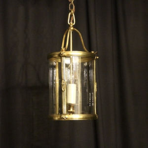 French Gilded Twin Light Antique Hall Lantern