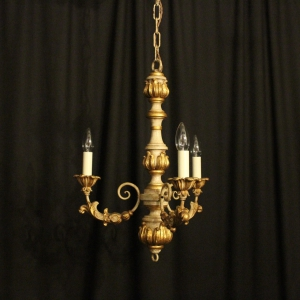Florentine Triple Light Polychrome Chandelier