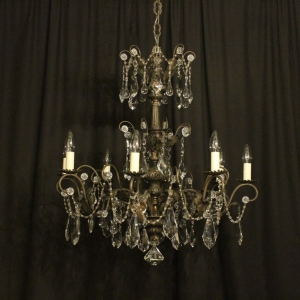 Italian Silver 8 Light Antique Chandelier