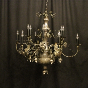 Italian Birdcage 7 Light Antique Chandelier