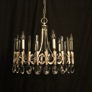 Italian Gaetano Sciolari 6 light chandelier