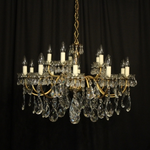 Italian Silver Gilded 15 Light Chandelier