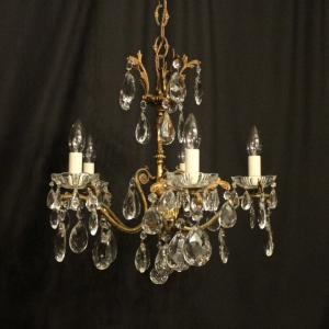 Italian gilded 5 Light Antique Chandelier