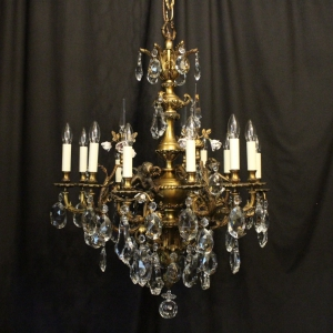 Antique chandeliers and antique lighting uk okeeffe antiques french gilded bronze antique chandelier aloadofball Images