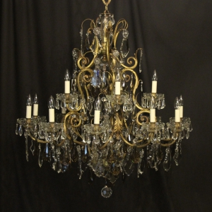 French Gilded 16 Light Antique Chandelier