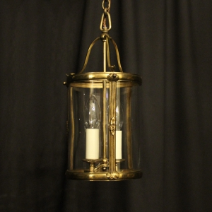 French Small Twin Light Convex Antique Lantern